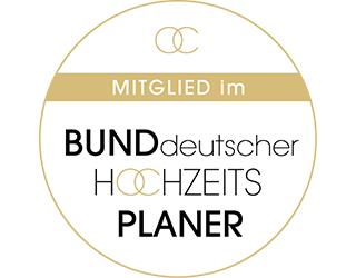 Mitglied im Bund deutscher Hochzeitsplaner | Logo | Badge